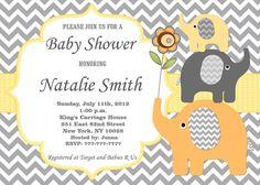 Baby Shower Invitation Elephant Baby Shower by diymyparty on Etsy