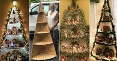 Christmas Tree Village, Wall Christmas Tree, Christmas Crafts To Make, Indoor Christmas Decorations, Christmas Villages, All Things Christmas, Christmas Home, Xmas, Holiday Decor