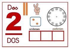 Tenemos en este momento, como protagonista al número 3. Pero hemos guardado también las plantillas del número 1 y del 2. Numbers Preschool, Toddler Preschool, Toddler Activities, Preschool Activities, Spanish Activities, Book Activities, Dora, 1st Grade Math, Math Stations
