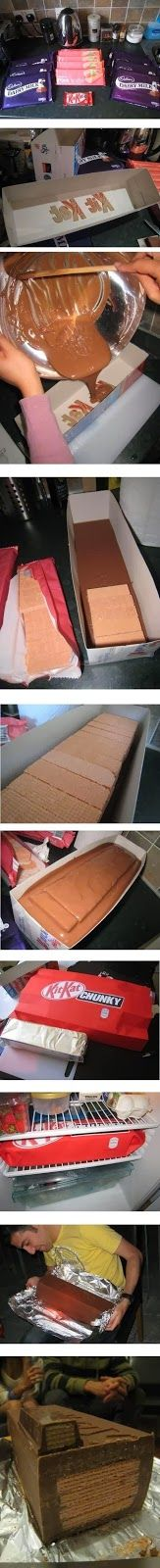 How To Make A Giant Kit Kat Bar! This Would Be Such A Fun Gift!