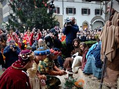 The Three Kings present their gifts - see more pics at http://www.florencepictures.com/events/cavalcade-three-kings-epiphany/