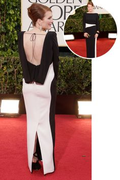 The best red carpet dresses from the back: Julianne Moore in Tom Ford at the 2013 Golden Globes.
