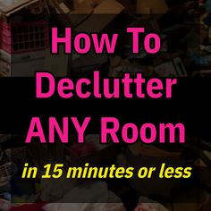 How To Declutter ANY Room / in 15 minutes or less Dollar Tree Organization, Budget Organization, Declutter Your Home, Organizing Your Home, Clutter Solutions, Messy House, Clutter Control, Lose Your Mind, Old Newspaper
