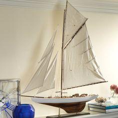 Five Sails Wooden Model Sailboat