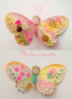 おしゃべりな蝶 kawaii fairy butterflies