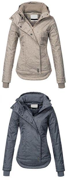 Ericdress Slim Plain Zipper Hooded Jacket Source by Sweater Jacket, Long Sleeve Sweater, Hooded Jacket, Loose Sweater, Batwing Sleeve, Blazer Jacket, Jacket Men, Rain Jacket, Casual Outfits