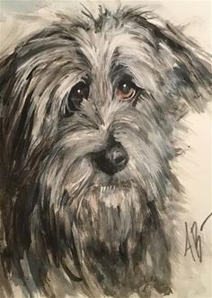 "Daily Paintworks - ""Irish Wolfhound"" - Original Fine Art for Sale - © Annette Balesteri"
