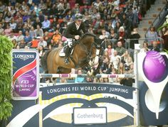 Marcus Ehning with Plot Blue and in the World Cup GP in Gothenburg 2014 / photo: Roland Thunholm/FEI World Cup Final, Dream Barn, Gothenburg, Show Jumping, Equestrian, Competition, Horses, Dressage, Cross Country