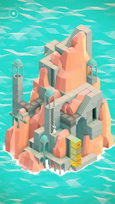 KAGADATO selection. The best in the world. Game design. **************************************Monument Valley in-game screenshot #cg