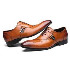 788d29b0330 FELIX CHU Italian Designer Black Brown Brogue Shoes Genuine Leather Lace Up  Men Formal Dress Oxfords Party Office Wedding 188-89