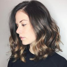 Black Coffee Hair With Ombre Highlights - 10 Cool Ideas of Coffee Brown Hair Color - The Trending Hairstyle Hair Caramel, Caramel Hair Highlights, Brown Hair With Blonde Highlights, Brown Balayage, Hair Color Highlights, Ombre Hair Color, Blonde Balayage, Brown Hair Colors, Auburn Balayage