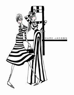 Marc Jacobs illustration via eighty seventh ST. Passion For Fashion, I Love Fashion, Fashion Art, Fashion Design, Fashion Sketches, Fashion Illustrations, 3d Street Art, Illustration Mode, Love Drawings