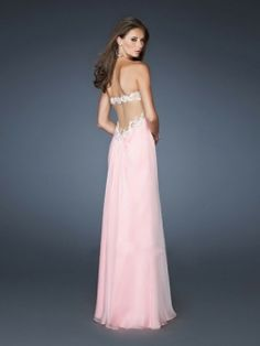 Glamorous A-line Sweetheart Applique Floor-length Chiffon Dresses