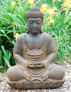 Garden Buddha gotta get one for the garden this year! Garden Buddha gotta get one for the garden thi Buddha Zen, Gautama Buddha, Buddha Buddhism, Tibetan Buddhism, Meditation Garden, Buddha Meditation, Ganesha, Buddhist Teachings, Yoga