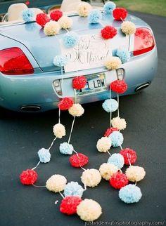 11 creative wedding car decorations you'll love   herworldPLUS