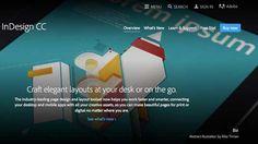 InDesign homepage