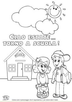 www.maestragemma.com Schede%20didattiche%20inserimento.htm First Day Of School, Middle School, Back To School, Class Rules, School Clipart, Baby Art, Primary School, Alter, Coloring Pages