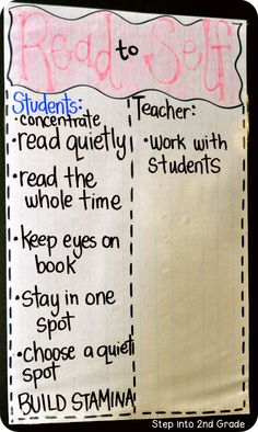 Step into 2nd Grade with Mrs. Lemons: Week One of Read to Self!