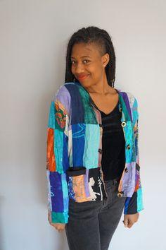Multipattern Patch Jacket. Buy it now at Vintage Vital Etsy