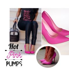 """Hot Pink Pumps NWT Hot pink pumps. Beautiful shoe. Even color all around. The inside is a lighter pink.A must have for this summer. Dress it up or down with any outfit.  Measures Heel: 4.5""""  ▪️NWT ▪️Smoke/Pet Free No Trade  Happy Poshing❣ Shoes Heels"""