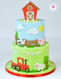 The fantastic new cake cutters, Cute Farm Animals and Tractors, are now available at Sprinkles & Co! Farm Animal Cakes, Farm Animal Party, Animal Cupcakes, Farm Party, Farm Animals, Barnyard Party, Tractor Birthday Cakes, Boys First Birthday Cake, Animal Birthday Cakes