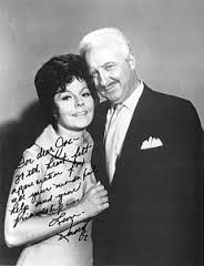 Casey Rogers and David White as Louise and Larry Tate of Bewitched