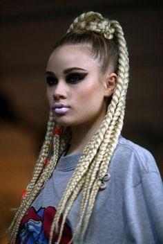Blonde Braids | Ponytail Hair