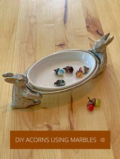 DIY Acorns Made From Marbles - Rustic Crafts & Chic Decor Fall Home Decor, Autumn Home, Rustic Chic, Rustic Style, Easy Projects, Craft Projects, Candle Containers, Rustic Crafts, Glass Marbles