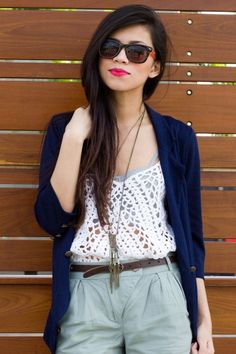 spring layers... crochet top from sugarlips