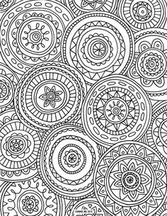 Free Adult Coloring Page, Abstract Pattern by Thaneeya McArdle ...