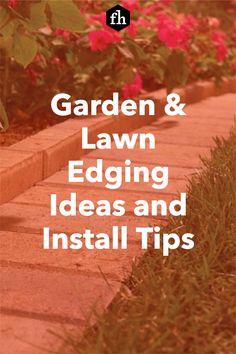 Garden & Lawn Edging Ideas and Install Tips Landscape Borders, Landscape Fabric, Garden Borders, Metal Garden Edging, Lawn Mower Wheels, Paver Designs, Edging Ideas