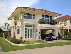Colonial House Exteriors, Dream House Exterior, Modern Bungalow House, Modern Mansion, Minimalist House Design, Modern House Design, House Structure Design, House Plans Mansion, African House