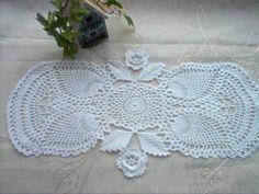 Note of Irish Pineapple Centerpiece Runner Crochet by crochetbymsa, $28.99