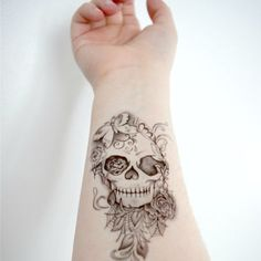 girly skull and crossbone tattoos - Google Search