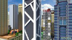 Render of my Liuzhou Minecraft Skyscraper