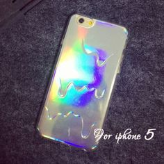 3D Iridescent Rainbow Colors Hologram iPhone Case