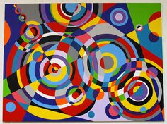 Colorful and geometric painting by Bruce Gray   #painting #colorful #geometric #forms #modernart