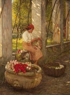 A Ligurian Flower Girl #twitart #art   Henry Herbert La Tangue. pic.twitter.com/WWthdS1hFO