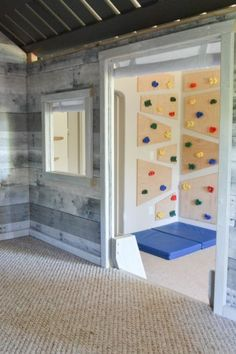 climbing wall from playhouse
