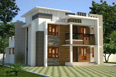 Contemporary house House Balcony Design, Kerala House Design, Bungalow House Design, House Front Design, Small House Design, Modern House Design, Chettinad House, Latest House Designs, Fancy Houses