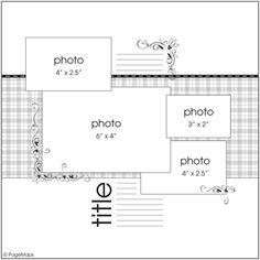 4 photo scrapbook sketch