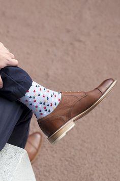 Bold socks for the modern gentleman!