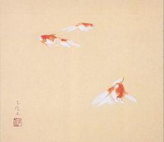 Tsuchida Bakusen, Goldfish, 1925