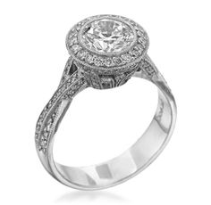 JB Star - Classic Romance Platinum Twisted Shank Setting (Available at Michael C. Fina)