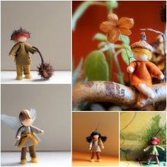 Daily Colours : Tutorial Wee Felt Folk - Free PDF-pattern download. I SO want to make these!