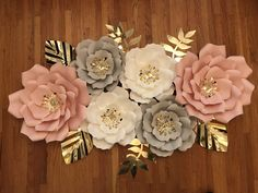 Excited to share this item from my #etsy shop: 6 Pieces Paper Flowers, nursery set, Room Decor, Bridal Shower, Baby Showers GPA Giant Paper Flowers, Large Flowers, Colorful Flowers, Fabric Flowers, Paper Flowers Craft, Flower Crafts, Paper Crafts, Flower Paper, Crepe Paper Flowers Tutorial