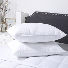 2Packs, 45 x45 cm MIULEE Super Soft Cushion Pad Inner Insert Quality Bed Pillow Cotton Fabric Pillow for Back,Stomach and Side Sleeper