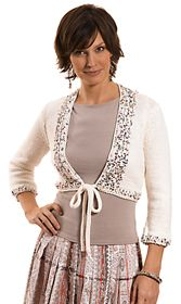 Cute sequined shrug pattern