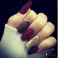 12 Pretty Nail Art Designs for Winter 2016 | Fashionte