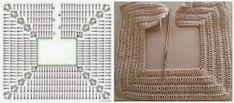 TRICO y CROCHET-madona-mía: Vestido de bautizo para niñas a Crochet (ganchillo) con patrón